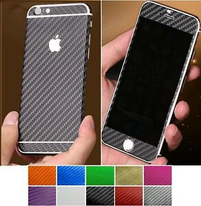 3D-Textured-Carbon-New-Skin-Sticker-Decal-Vinyl-Cover-Wrap-ALL-Apple-iPhone