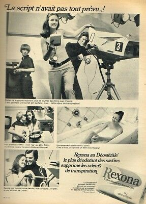 Breweriana, Beer Dashing Q Collectibles Publicité Advertising 1969 Le Savon Rexona Warm And Windproof