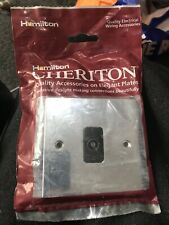 Hamilton Cheriton Victorian Satin Chrome 1 Gang Non Isolated Television 96TVBL
