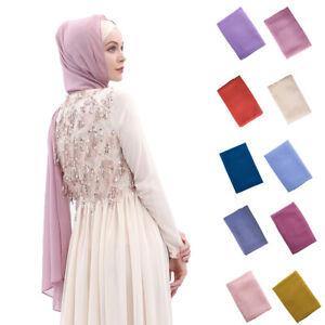 Muslim-Women-Chiffon-Long-Scarf-Hijab-Islamic-Headscarf-Head-Wrap-Cover-Shawl