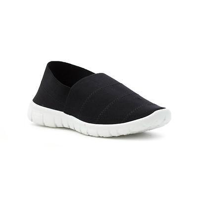 Lilley Niñas Negro Slip On Elástico Informal Zapato-tamaños 10,11,12,13,1,2