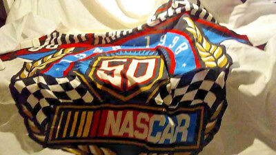 """Sports Mem, Cards & Fan Shop Charitable Nascar 50th Anniversary Flag 59""""x 36"""" Wincraft Racing/made U.s.a And To Have A Long Life."""
