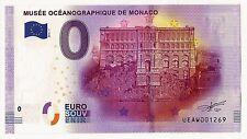 Billet touristique de Monaco 0 euro souvenir fauté SANS HOLOGRAMME 2016