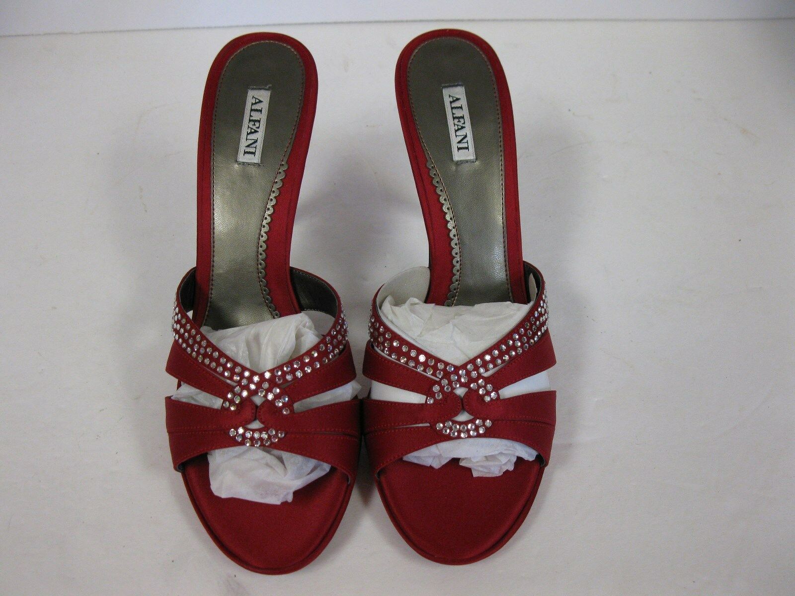 Alfani image Women Ruby Red Sandals with rhinestones. size 10M