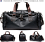 thumbnail 1 - New Leather Vintage Cross Body Shoulder Duffel Gym Sports Overnight Travel Bag