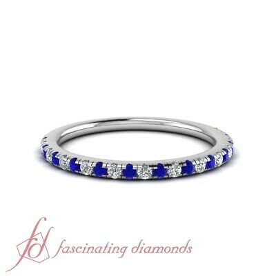 Cheap Wedding Bands.Delicate Round Diamond Wedding Band With Sapphire In 18k White Gold 1 4 Carat Ebay