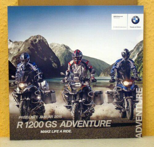 Preisliste Januar 2015 BMW Motorrad Prospekt R 1200 GS Adventure