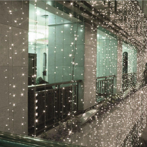 New 10M 100 LED White Xmas Christmas Power String Fairy Wedding Light Party Lamp