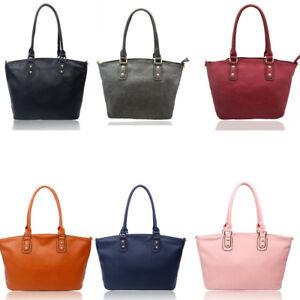 0751bb8d Details about Women's Large Tote Bags Designer Faux Leather Shoulder Bag  Handbags For Women A4