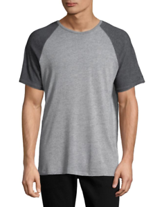 John Varvatos Star USA Men/'s Short Sleeve Raglan Crew Neck T-Shirt Heather Grey