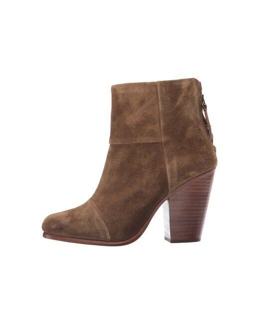 NEW   600 Rag & Bone Newbury Newbury Newbury Mineral Suede Ankle démarrageie bottes Heel chaussures 37 New 4acfb7