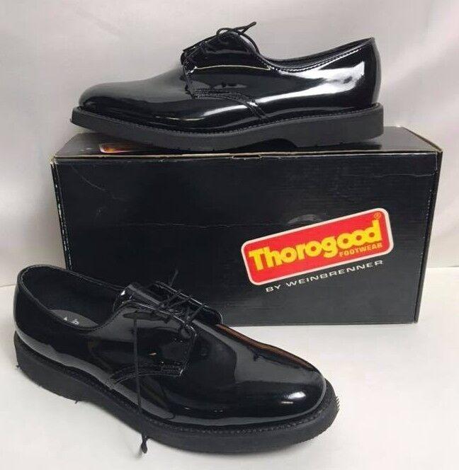 la migliore selezione di Thorogood 531-6303 Donna Donna Donna  Poromeric nero Patent Oxford Lace Up Multiple Dimensiones  ti renderà soddisfatto