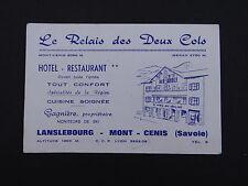 Carte de visite LE RELAIS DES DEUX COLS Lanslebourg Mont-Cenis Savoie Gagnière