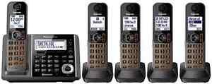 Panasonic-KX-TGF375S-METALLIC-GRAY-DECT-6-0-Plus-Bluetooth-Cordless-Phone-System
