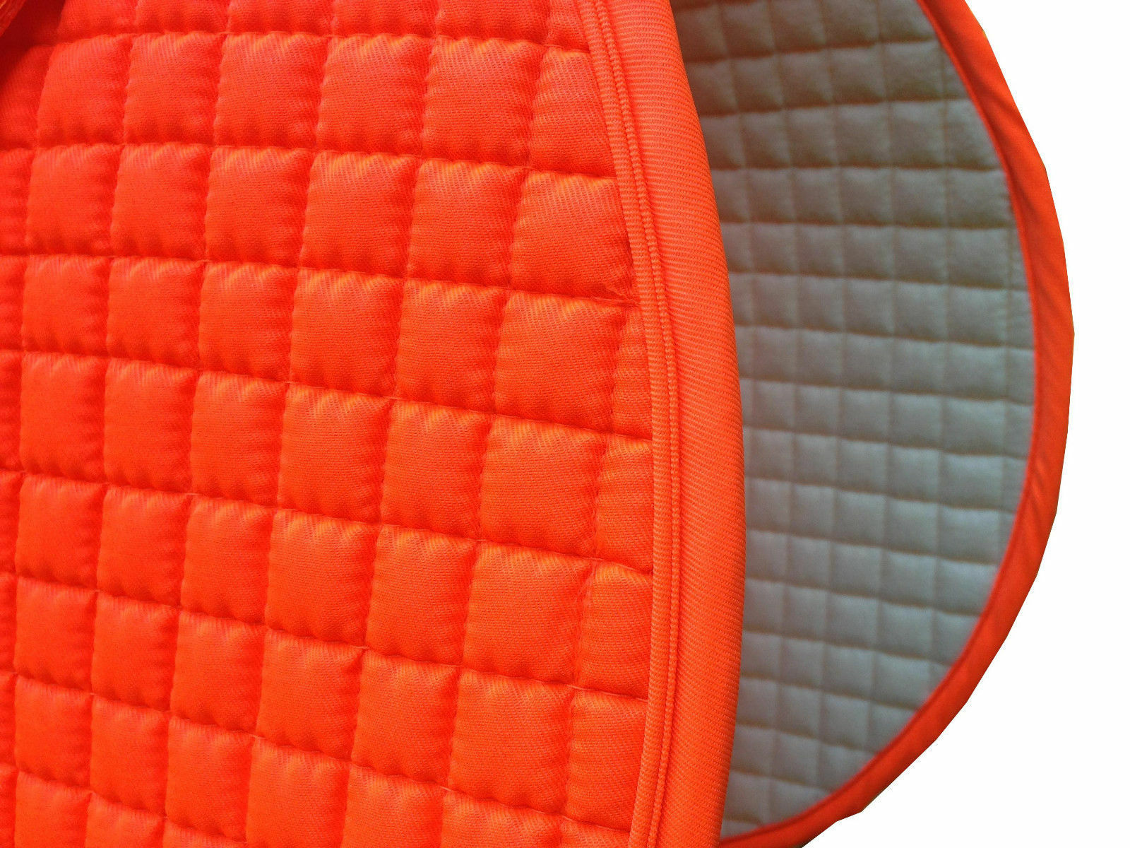 Hunter Safety Neon Blaze orange English Saddle Pads - Dressage or All-Purpose