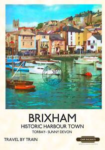 Brixham England Photochrome EPC098 Art Print A4 A3 A2 A1