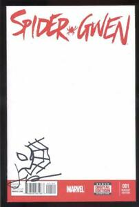 SPIDER-GWEN #1 SKETCH VARIANT SIGNED BY CREATOR JASON LATOUR W/ HEAD SKETCH