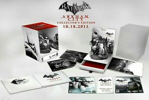 Ps3-Arkham-City-Collector-039-s-Edition-Statue-Game-Movie-Creator-039-s-Art-Book