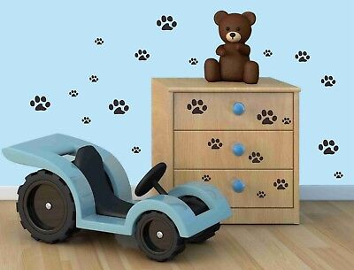 23 Pcs 3 Sizes Dog Pet footprint Removable Wall Sticker Kids nursery Room