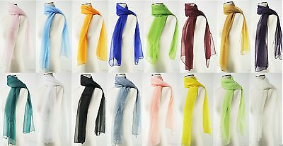 New Chiffon Scarf Oblong Women's Fashion Style Lady Shawl Girls Stole 22 Colors
