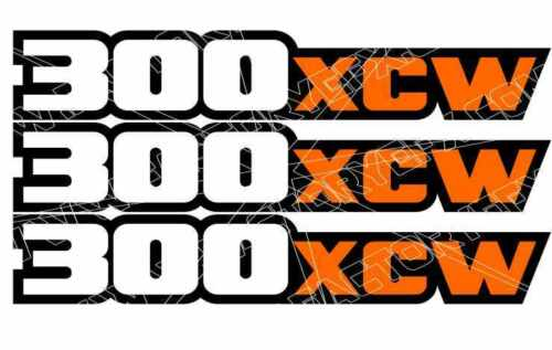 300XCW Swingarm Airbox Number Plate Decal Stickers XCW 300 2 4 stroke XCW300