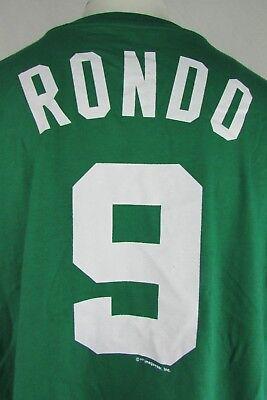 detailed pictures 53d6e 155f3 Boston Celtics #9 Rondo Majestic Men's Big & Tall Green Short Sleeve Shirt  NBA | eBay