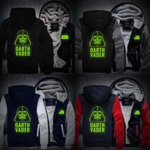 DARTH VADER Cosplay Luminous Coat Hoodie Winter Men Thicken Jacket Sweatshirts