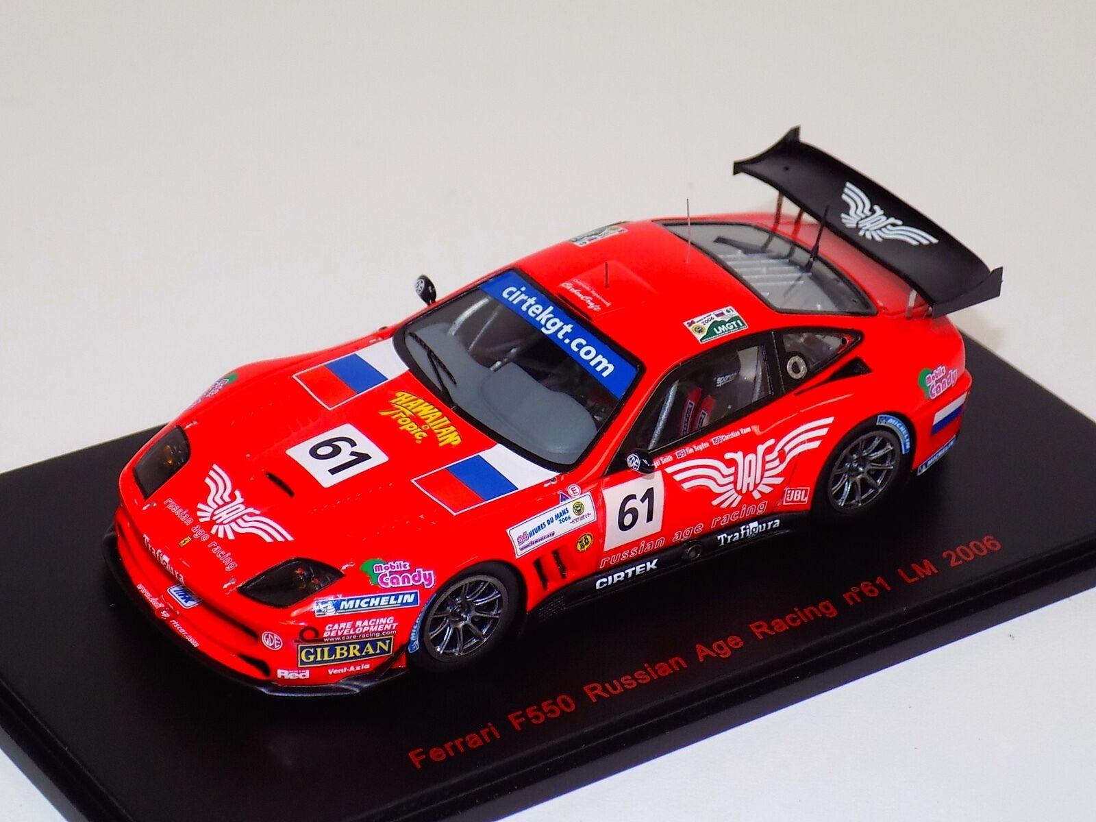 1  43 röd Line Ferrari F550 Russian Age tävlings bil från 2006 24H av LeMans