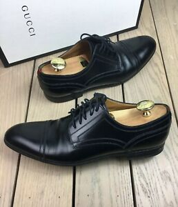 5cba7bb8d17 SOLD OUT STYLE MEN S GUCCI RAVELLO BLACK LACEUP LOAFERS OXFORDS 8G ...