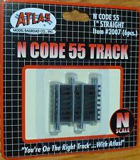 """Atlas N #2007 Code 55 Track w/Nickel-Silver Rail & Brown Ties -- 1"""" Straight"""