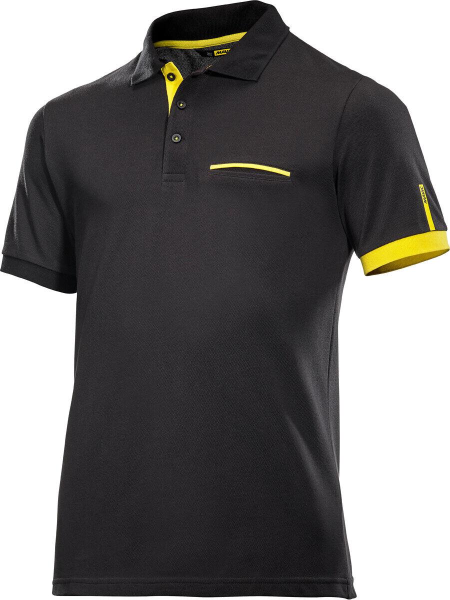 Mavic Le Sang yellow Freizeit Poloshirt black 2020