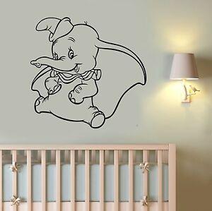 Image Is Loading Dumbo Sticker Disney Wall Decal Cartoon Vinyl Art