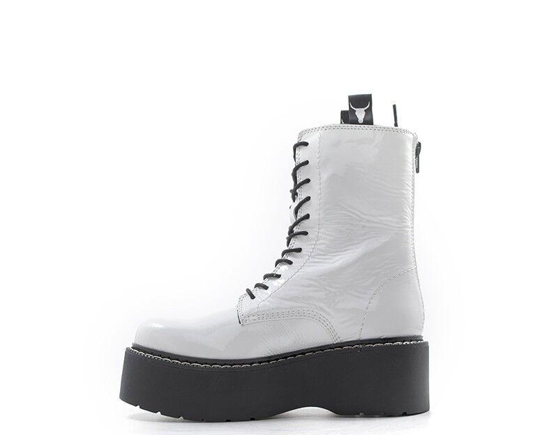 Schuhe WINDSOR SMITH Frau BIANCO    LEONNOX-WHTP 77f50f