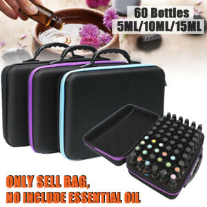 60-Bottle-Essential-Oil-Carry-Case-5ML-15ML-Holder-Storage-Aromatherapy-Hand-Bag