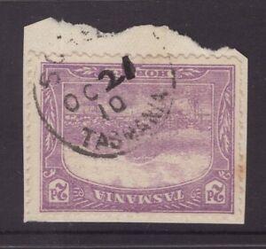 Tasmania-Sorell-1910-postmark-on-2d-pictorial-piece-manuscript-day