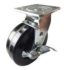 6 X 2 Heavy Duty Phenolic Caster Swivel With Brake