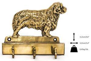 Clumber Spaniel - Cintre En Laiton Avec Un Chien, Haute Qualité, Art Dog Fr
