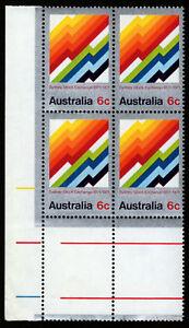 1971-Sydney-Stock-Exchange-Marginal-MUH-Block-of-4-SG487-Mint-Australia-Stamp