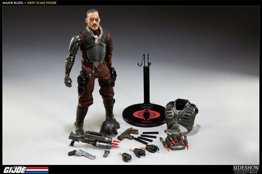 SIDESHOW COLLECTIBLES Gi Joe Major Bludd MERCENARY 1/6 12 figura 100072 Nuevo