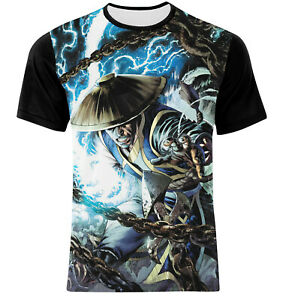 DOUBLE-SIDE-FULL-PRINT-MULTI-COLOR-MORTAL-COMBAT-RAIDEN-T-SHIRT-All-SIZES