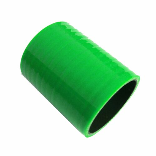 """Green ID 76mm  3/"""" to 3/"""" Straight Silicone Coupler Hose Intercooler Joiner Pipe"""
