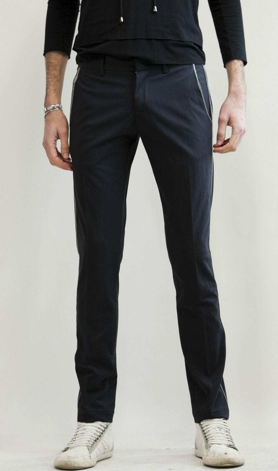 IMPERIAL Pantalone Slim Fit Elastico profilo silverato men M. PZL7KES 70%