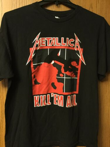 Metallica  2007  Two Sided Black Shirt  AAA.  XL