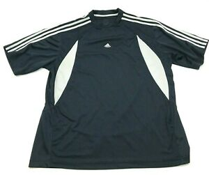Details about Adidas Shirt Size Extra Large Blue White Dry Fit Tee Jersey Spell Out Adult Mens