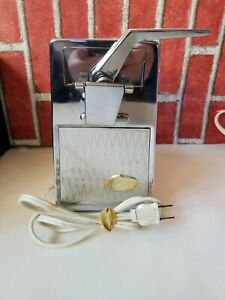Sunbeam D C O Model Can Opener Knife Sharpener Stainless