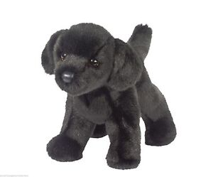 Bear Douglas Cuddle Toy Plush Black Lab Stuffed Animal Small Puppy