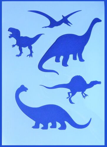 A4 Flexible Stencil *DINOSAUR* T Rex Brontosaurus Painting Embossing Crafts