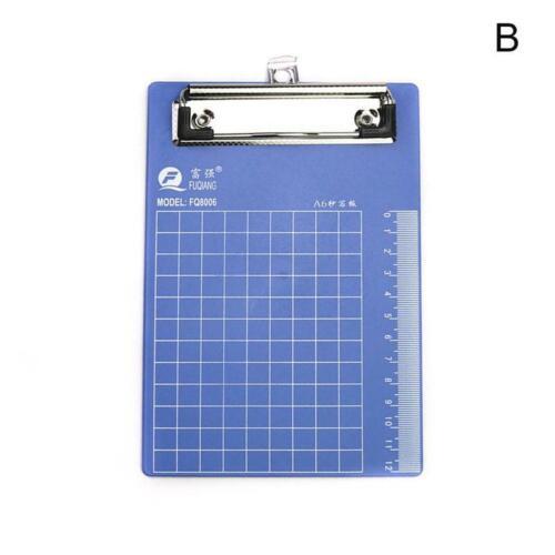 3 Größen Blau Klemmbrett Schreibtafel Klemmbrett Büro Schulbedarf Schreibwaren