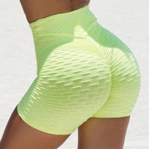 Women Push Up Yoga Shorts Anti-Cellulite Sports Hot Pants Gym Fitness Workout K7