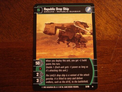 Star Wars TCG SR Republic Drop Ship